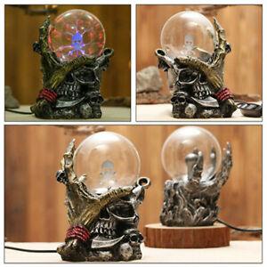 Magical Gothic Black Skull Hand Tesla Glass Plasma Ball Party Xmas Lighting Lamp