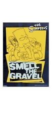THE SIMPSONS ~ BART SKATEBOARD 22x34 CARTOON POSTER Matt Groenig Smell Gravel TV