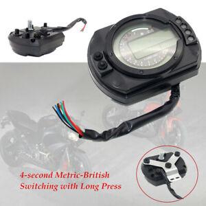 Motorcycle LCD Digital Gauge ATV Panel Speedometer Odometer Backlight switching