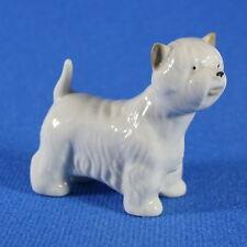 West Highland White Terrier Lomonosov Porcelain Figurine, Russia USSR LFZ