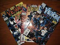 Marvel Comics 1993 Venom The Punisher #1-3 Mini Series Direct Edition 1st Issues