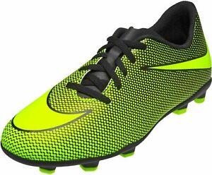 Nike JR Bravata II FG Soccer Cleats Black/Volt 844442-070 BX 2