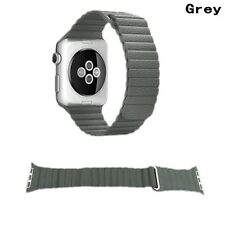 7 Color Genuine Leather Loop Magnetic Watch Band For Apple Watch Series 3/2/1 US