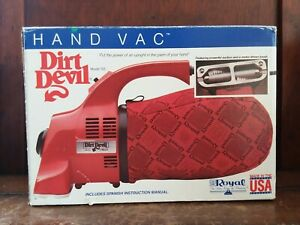 VTG Royal Dirt Devil Handheld Compact Portable Vacuum Cleaner with Bags-Tested
