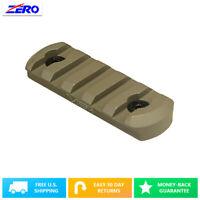 Tan Accessories Keymod Accessory Weaver Picatinny Rail 5 Slots Aluminum Round