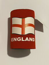 Stubby Beer Can Sleeve Holder, Bottle Cooler, England Euro Football St Georges