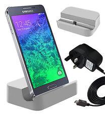 BIANCO Micro Usb Desktop Dock di ricarica & caricabatterie per Samsung Galaxy A5