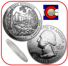 2017 Ozark Riverways (MO) 5 oz Silver America the Beautiful ATB Coin in capsule