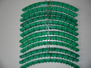 12 Kleiderbügel 70er Jahre grün TRUE VINTAGE Plastikhülle Garderobe Flur **TOP**