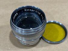 Carl Zeiss Jena 5cm f/1.5 Sonnar Lens for Contax Rangefinder Cameras #2270086