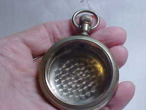 NICE VINTAGE 18 SIZE POCKET WATCH CASE SWING OUT STYLE WITH GLASS STEM/CROWN