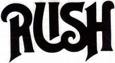 Rush First Album Logo Peel And Rub On Black Vinyl Decal !