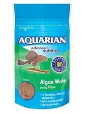 6 x 85g AQUARIAN ALGAE WAFERS AQUARIUM TROPICAL FISH PLEC FOOD CATFISH £3.25EACH