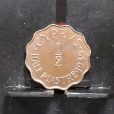 CIRCULATED 1949 1/2 PIASTRE CYPRUS COIN (112317)1,,,FREE SHIPPING!!!!!