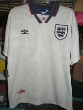 Vintage UMBRO England National Team 1993-1995 Football Shirt Soccer Jersey L