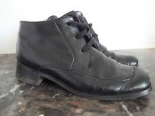 Chaussures Vintage à lacets montantes en cuir noir P.37