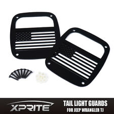 Xprite Pair Rear Taillight Cover Guard U.S. Flag Design Fits JEEP Wrangler TJ YJ