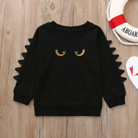 Toddler Baby Girls Boys Long Sleeve Cartoon Eyes Soft Kids Tops Shirt Clothes