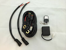 Dual wire remote controlled relay wiring harness led hid 500w control light bar