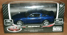 1/43 Scale 2010 Ford Mustang GT Coupe Diecast Model Blue Sports Car - Gift Idea