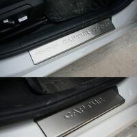 4x Battitacco protezione auto sotto porta acciaio per Renault Captur 2014-2017