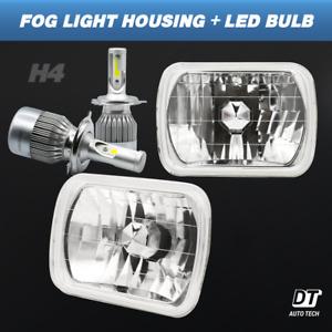 "7""X6"" inch Sealed Beam Headlight Conversion Chrome + 100W H4 CREE LED Kit"