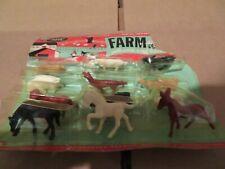 B-Line Toys Farm Animals Set Unbreakable Processed Plastic Set of 12 MOC