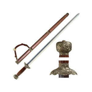 """COLD STEEL 88G GIM SWORD 37-1/4"""" CARBON STEEL CHINESE MARTIAL SWORD"""