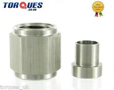 "AN -4 (AN4 7/16"" UNF 4AN ) 1/4"" Hardline Tube Nut and Sleeve In Stainless Steel"