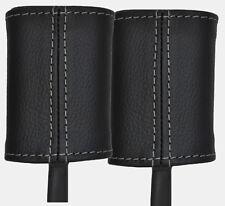 grey stitch FITS ALFA ROMEO 156 97-06 2X FRONT SEAT BELT STALK LEATHER COVERS