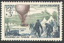 France 1955 Stamp Day/Hot Air Balloon/Mail/Flight/Aircraft/Transport 1v (n24267)