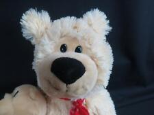 BIG DANDEE TAN VERY SOFT WINTER TEDDY BEAR SNOWFLAKES MOM DADDY BABY 2 PLUSH