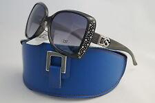 DG SUNGLASSES CELEBRITY GREY RHINESTONES FASHION+ FREE GIFT BLUE CASE*550