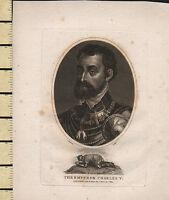 1807 Datato Georgiano Stampa ~ The Imperatore Charles V