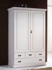 ODETTE 2-türiger Wäscheschrank Kleiderschrank f. Kinderzimmer Kiefer massiv Weiß