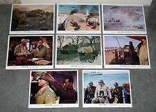 GENERAL PATTON/ARMORED TANKS original 1970 movie color lobby set GEORGE C. SCOTT