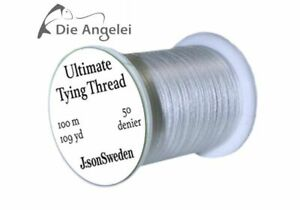 J:son Ultimate Tying Thread, Bindegarn, weiß, 50 Denier, 100 m / 109 yd