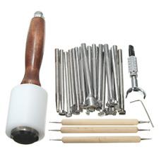herramientas de cuero para trabajar el cuero set kit 25 pzs acero inoxidable