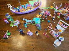 Playmobil lot sets figures ship unicorn fairy princess birthday hair salon 2010+