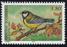 TIMBRE ANDORRE FRANCE NEUF N° 470  **  FAUNE OISEAU MESANGE CHARBONIERE