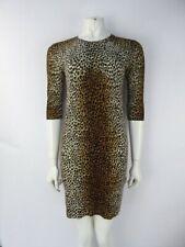 Dolce & Gabbana Leopard Print Knitted Wool Dress Size IT 42 UK 10