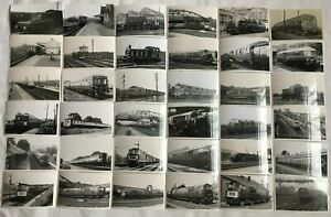 Lot of 89 Photographs Of Various UK Diesel Locomotives and Rail Cars