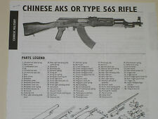 CHINESE AKS OR TYPE 56 RIFLE EXPLODED VIEW