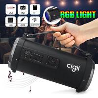 Portable Wireless RGB Leuchten Bluetooth Lautsprecher 360 ° Stereo Bass FM/TF/US