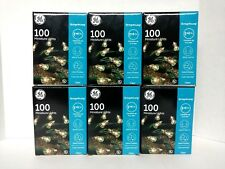 Lot Of 6 GE String A Long 100 Ct Miniature Lights 600 Total Lights