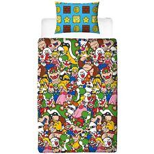 Nintendo Super Mario Set Housse de Couette Simple Gang 2 en 1