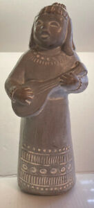 """isabel bloom 13"""" Woman with Instrument 1986 RARE"""