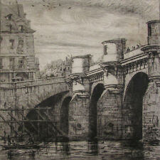 Charles Meryon (French, 1821–1868) Le Pont Neuf 1853 Etching on Laid Paper