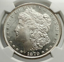 1879 UNITED STATES of America SILVER Morgan US Dollar Coin EAGLE NGC MS64 i76472