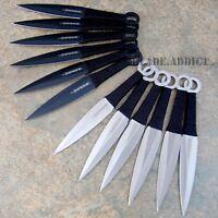 "12 Pc 6"" Ninja Tactical Combat Naruto Kunai Throwing Knife Set w/ Sheath Hunting"